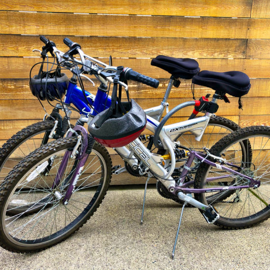 "alt=""picture of complimentary bikes available for guests to use at Chez Sealy PDX"""