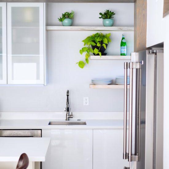 Guesthouse Kitchen. Clean minimalistic design.